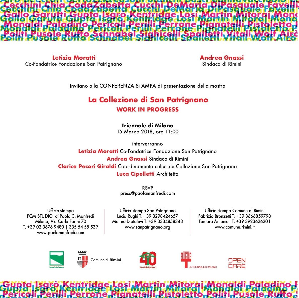 La Triennale di Milano | La Collezione di San Patrignano. WORK IN PROGRESS