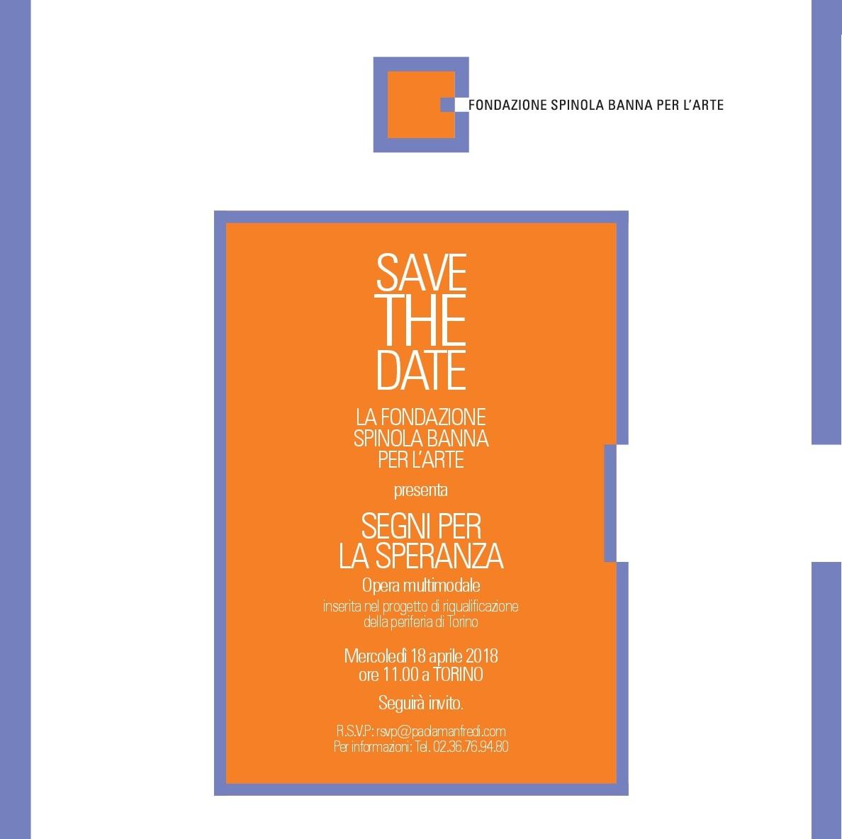 Fondazione Spinola Banna per l'Arte |  Segni per la speranza
