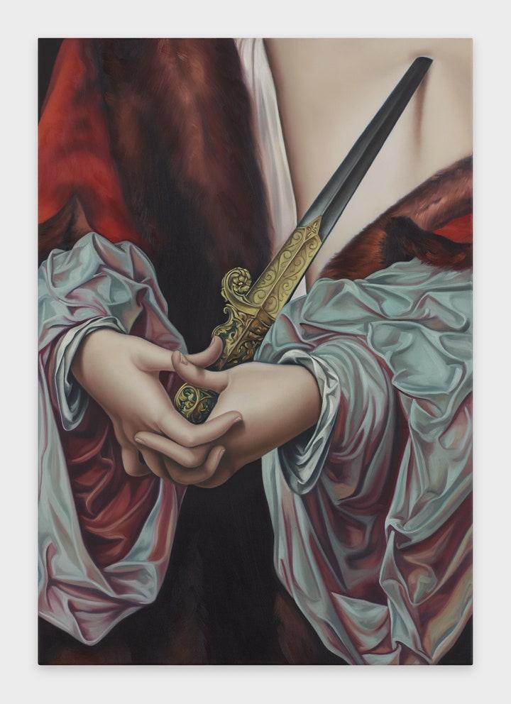Jesse Mockrin Untitiled, 2019 Oil on linen Courtesy Night Gallery,Los Angele